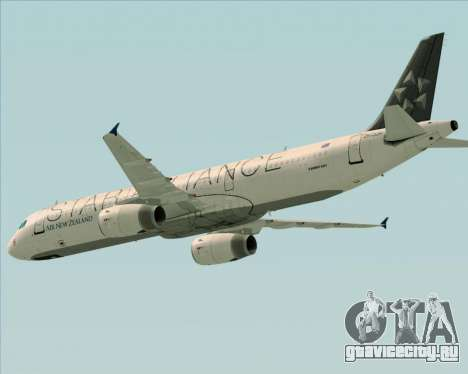 Airbus A321-200 Air New Zealand (Star Alliance) для GTA San Andreas вид сверху