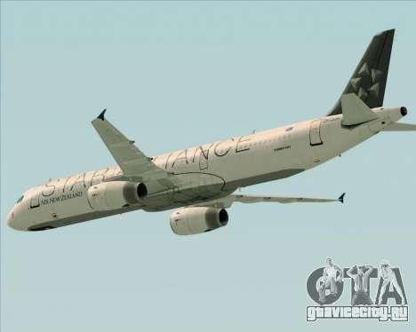Airbus A321-200 Air New Zealand (Star Alliance) для GTA San Andreas вид сверху