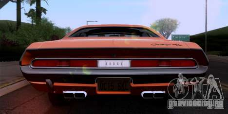 Dodge Challenger 426 Hemi (JS23) 1970 (ImVehFt) для GTA San Andreas вид изнутри