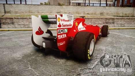 Ferrari 150 Italia Massa для GTA 4 вид сзади слева
