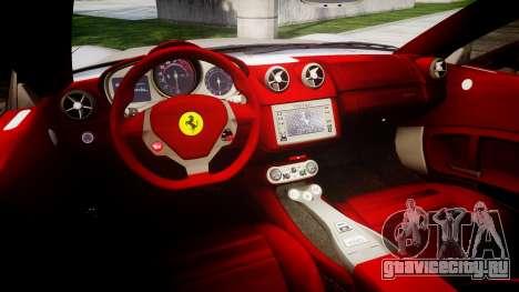 Ferrari California [EPM] для GTA 4 вид изнутри