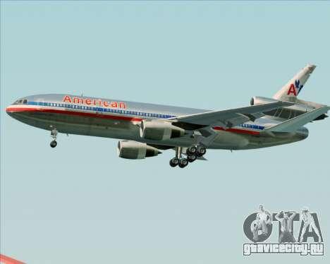 McDonnell Douglas DC-10-30 American Airlines для GTA San Andreas вид сбоку
