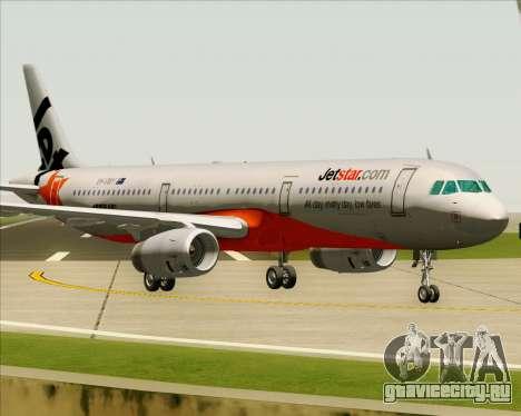 Airbus A321-200 Jetstar Airways для GTA San Andreas вид слева