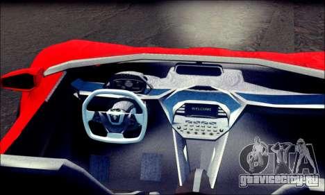 Specter Roadster 2013 (SA Plate) для GTA San Andreas вид сзади слева