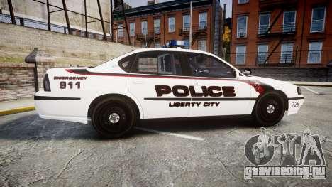 Chevrolet Impala 2003 Liberty City Police [ELS] для GTA 4 вид слева