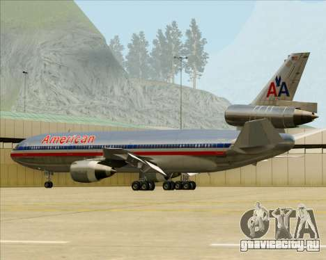 McDonnell Douglas DC-10-30 American Airlines для GTA San Andreas колёса