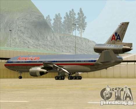 McDonnell Douglas DC-10-30 American Airlines для GTA San Andreas колёса