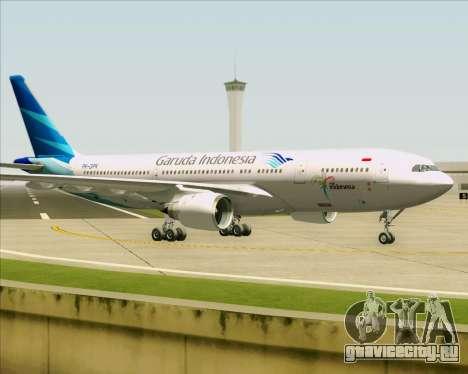 Airbus A330-243 Garuda Indonesia для GTA San Andreas вид сзади