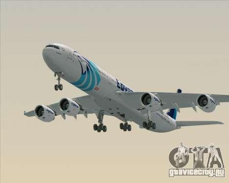 Airbus A340-600 EgyptAir для GTA San Andreas двигатель