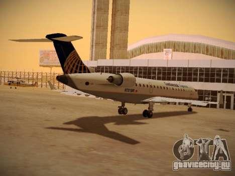 Bombardier CRJ-700 Continental Express для GTA San Andreas вид сбоку