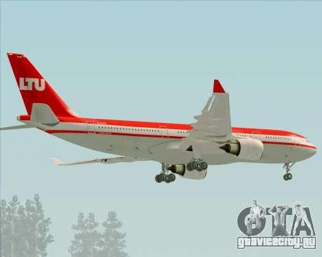 Airbus A330-200 LTU International для GTA San Andreas вид сзади
