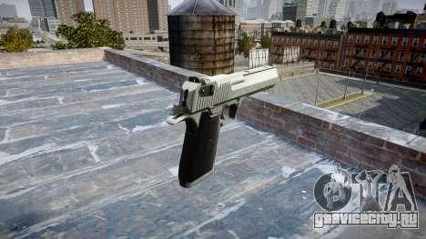 Пистолет IMI Desert Eagle Mk XIX Chrome для GTA 4 второй скриншот