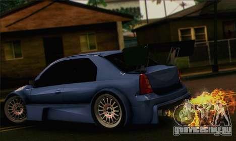 Dacia Logan Trophy Edition 2005 для GTA San Andreas вид слева
