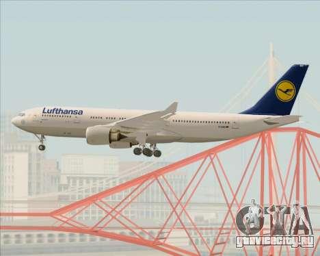 Airbus A330-200 Lufthansa для GTA San Andreas вид снизу