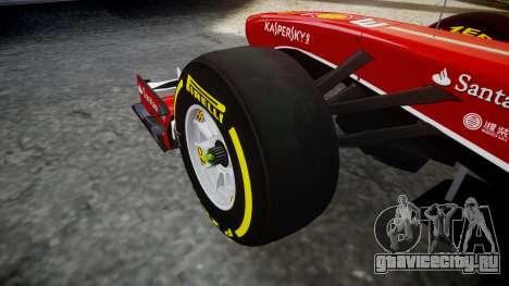Ferrari F138 v2.0 [RIV] Alonso TSD для GTA 4 вид сзади