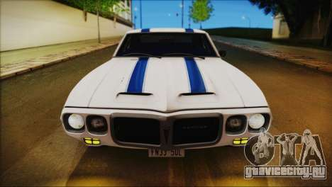 Pontiac Firebird Trans Am Coupe (2337) 1969 для GTA San Andreas двигатель