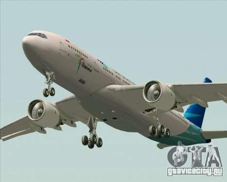 Airbus A330-243 Garuda Indonesia для GTA San Andreas вид сверху