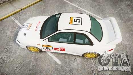 Subaru Impreza WRC 1998 SA Competio для GTA 4 вид справа