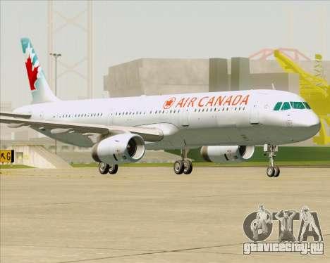 Airbus A321-200 Air Canada для GTA San Andreas вид снизу