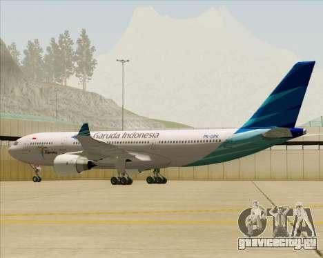 Airbus A330-243 Garuda Indonesia для GTA San Andreas колёса