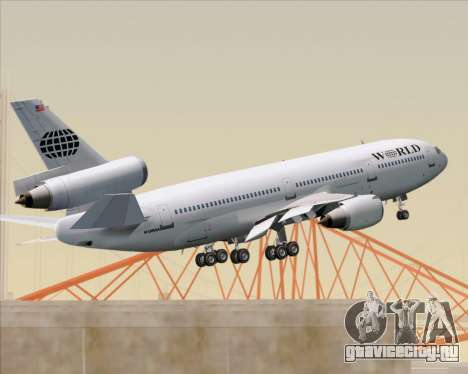 McDonnell Douglas DC-10-30 World Airways для GTA San Andreas