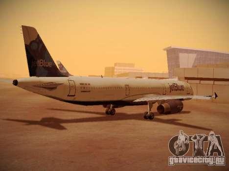Airbus A321-232 jetBlue La vie en Blue для GTA San Andreas вид справа