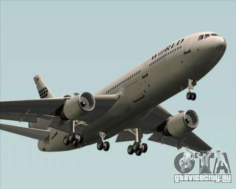 McDonnell Douglas DC-10-30 World Airways для GTA San Andreas вид изнутри