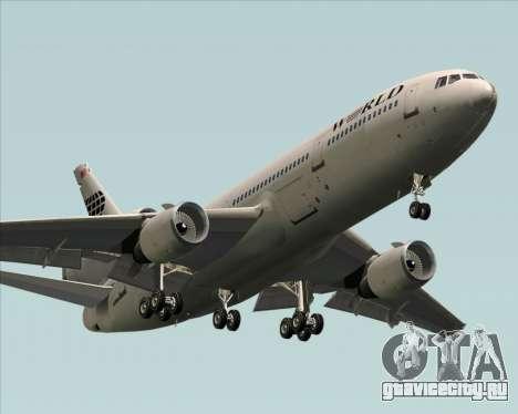 McDonnell Douglas DC-10-30 World Airways для GTA San Andreas вид изнутри