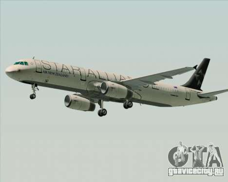 Airbus A321-200 Air New Zealand (Star Alliance) для GTA San Andreas вид сзади слева