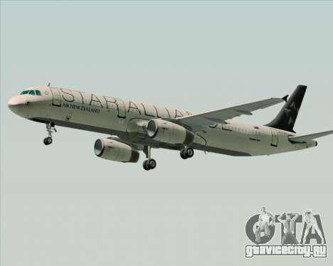Airbus A321-200 Air New Zealand (Star Alliance) для GTA San Andreas вид сзади слева