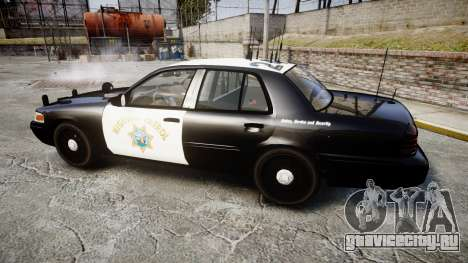 Ford Crown Victoria CHP CVPI Slicktop [ELS] для GTA 4 вид слева