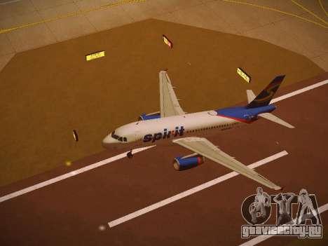 Airbus A319-132 Spirit Airlines для GTA San Andreas салон