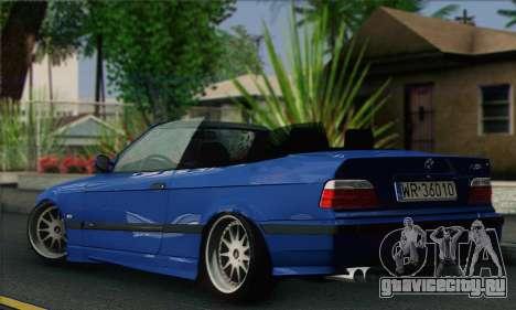 BMW M3 E36 Cabrio для GTA San Andreas вид слева