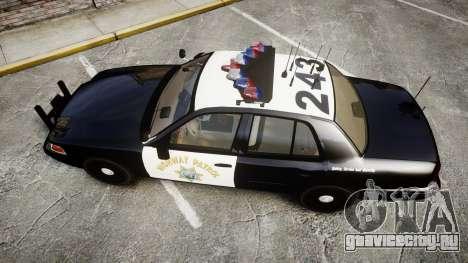 Ford Crown Victoria CHP CVPI Vision [ELS] для GTA 4 вид справа