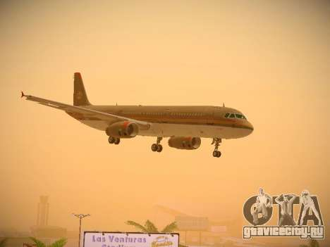 Airbus A321-232 Royal Jordanian Airlines для GTA San Andreas вид сбоку