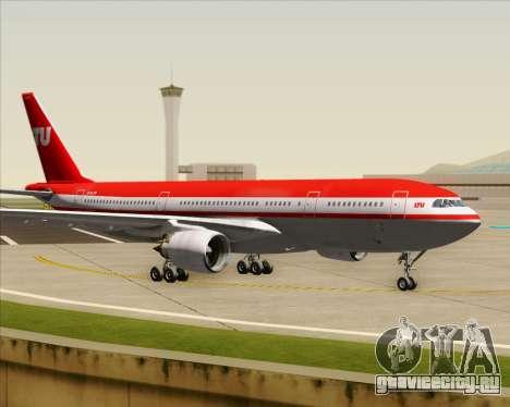 Airbus A330-200 LTU International для GTA San Andreas вид изнутри