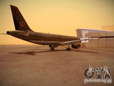 Airbus A321-232 Royal Jordanian Airlines для GTA San Andreas вид справа