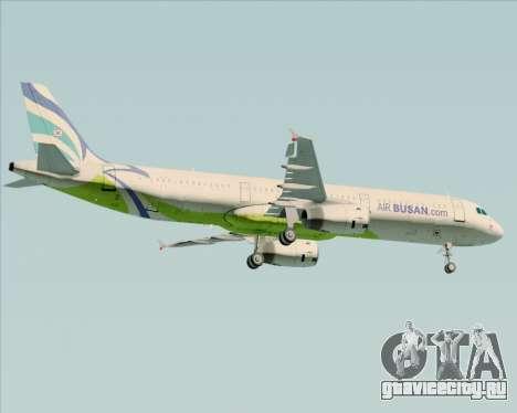 Airbus A321-200 Air Busan для GTA San Andreas вид справа