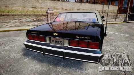 Chevrolet Caprice 1986 Brougham Police [ELS] для GTA 4 вид сзади слева