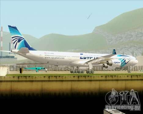 Airbus A340-600 EgyptAir для GTA San Andreas вид сверху