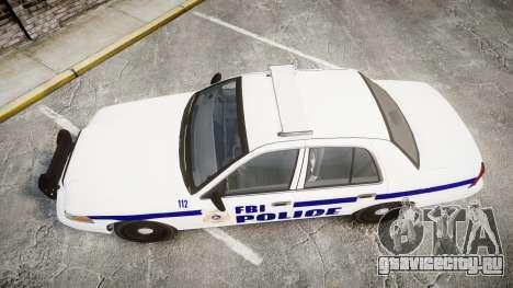 Ford Crown Victoria F.B.I. Police [ELS] для GTA 4 вид справа