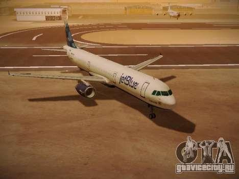 Airbus A321-232 jetBlue La vie en Blue для GTA San Andreas вид слева
