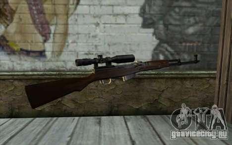 СКС с Оптическим Прицелом для GTA San Andreas второй скриншот