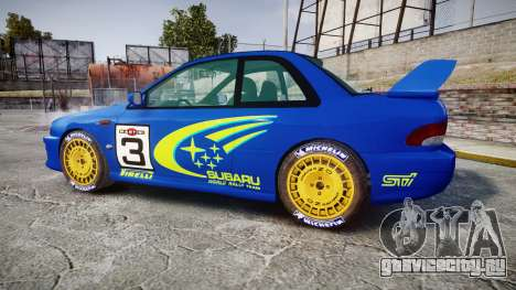 Subaru Impreza WRC 1998 World Rally для GTA 4 вид слева