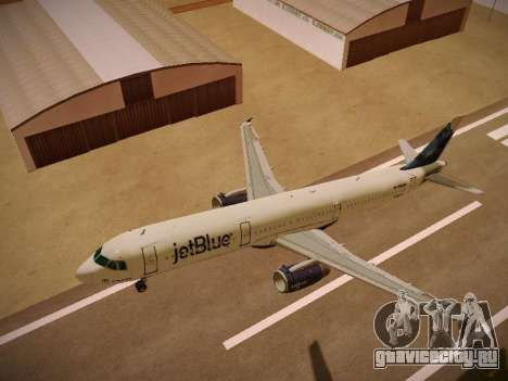 Airbus A321-232 jetBlue La vie en Blue для GTA San Andreas салон