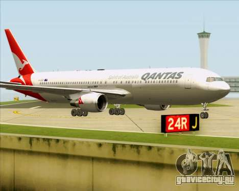 Boeing 767-300ER Qantas (New Colors) для GTA San Andreas вид слева