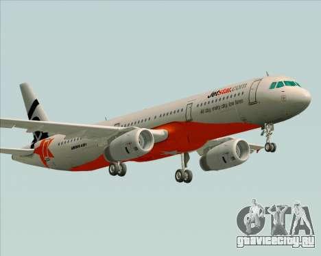 Airbus A321-200 Jetstar Airways для GTA San Andreas вид справа