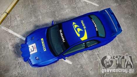 Subaru Impreza WRC 1998 Rally v3.0 Yellow для GTA 4 вид справа