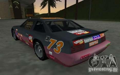 Новые декали и номера Hotring для GTA San Andreas вид сзади