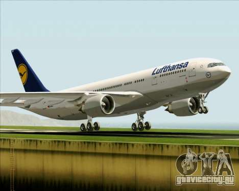 Airbus A330-200 Lufthansa для GTA San Andreas салон